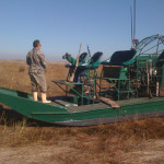 Steve_getting_ready_for_the_duck_hunt_airboat_daylight